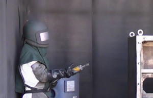 Blast Cleaning at UK Powder Coaters (East Midlands) Ltd